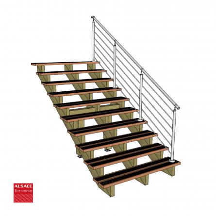 limon 3 marches en pin trait autoclave boutique alsace terrasse. Black Bedroom Furniture Sets. Home Design Ideas