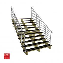 Kit escaliers pin largeur 80 cm boutique alsace terrasse for Escalier 80 cm largeur