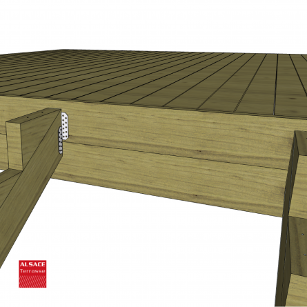 structure pour appentis en bois 6 x 2 m boutique alsace terrasse. Black Bedroom Furniture Sets. Home Design Ideas