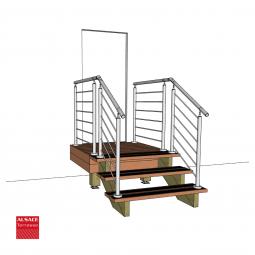 Kit escalier 8 marches en Ipé du Brésil