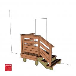 Kit escalier 10 marches en Ipé du Brésil