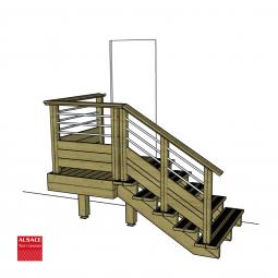 Tire-fond 10/180 & rondelle & cheville de 14 mm