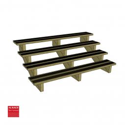 Abri en bois 6 x 5 m avec couverture membrane EPDM