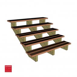 Kit terrasse autoportante 4 x 5 en pin autoclave, H : 200 cm, avec garde-corps modèle Carinn6
