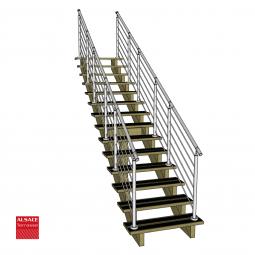 Kit terrasse autoportante 2 x 2 en pin autoclave, H : 35 cm (réglable)