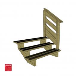 Kit terrasse autoportante 2 x 6 en pin autoclave, H : 39 cm (réglable)