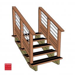 Kit terrasse autoportante 3 x 6 en pin autoclave, H : 48 cm (réglable)