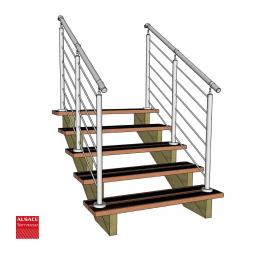 Kit terrasse autoportante 4 x 4 en pin autoclave, H : 53 cm (réglable)