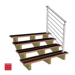 Bandeau de terrasse en pin traité classe IV