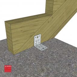 Structure pour appentis en bois 4 x 4 m
