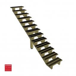 Structure pour appentis en bois 5 x 4 m