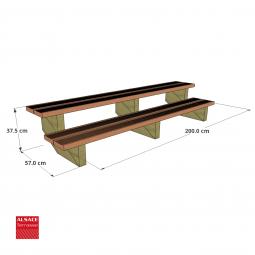 Abri en bois avec couverture membrane EPDM 6 x 3 m