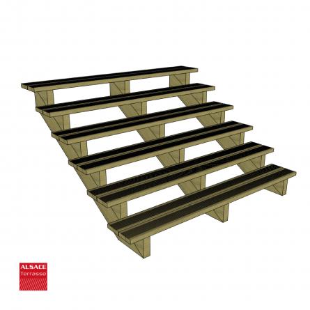 Structure pour mural carport en bois 5 x 5m